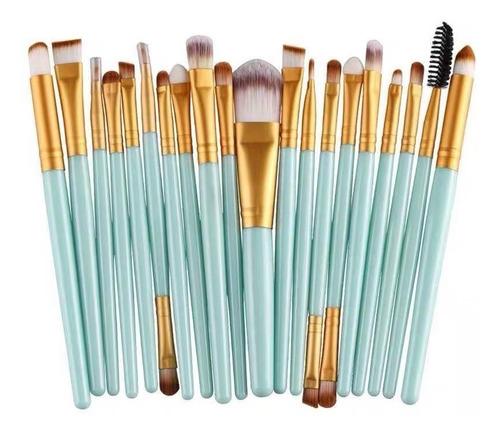Set 20 Brochas Maquillaje Artístico Sintéticas Rostro