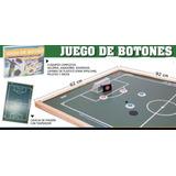 Juego De Botones De Futbol + Cancha De Madera De 62x92cm