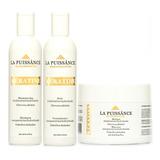 Shampoo + Acondicionador + Mascara Keratina La Puissance