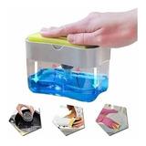 Dispenser Para Detergente Esponja 2 En 1 Cocina Jabon