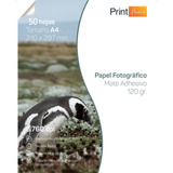 Papel Fotográfico Adhesivo Matte 120gr A4 X 50 Hojas