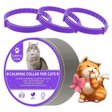 Collar Calmante Para Gatos Wustentre, Paquete De 3, Feromona