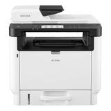 Impresora Multifunción Ricoh Sp 3710sf Con Wifi Blanca Y Gris 220v