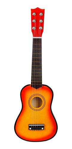 Guitarra Acústica Portátil De 6 Cuerdas, Sonido Claro, 21