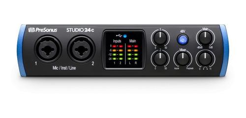 Presonus Studio24c Placa Audio Interface Midi Usb Daw 2x2