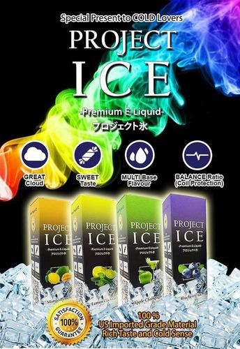 Liquido Project Ice 60ml Vape Vaper Con Mucho Hielo