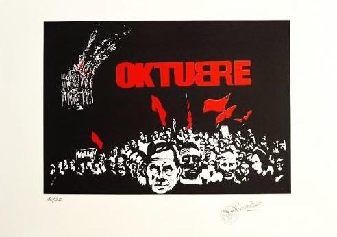 Serigrafía Oktubre Firmado Rocambole (50 X 70 Cm)
