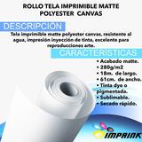 Rollo Tela Imprimible Foto Canvas Matte 18mx0,61m.