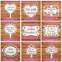 Kit 4 Placas Casamento Mdf - Lá Vem A Noiva- Personalizada Original