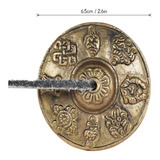 Platillo Tingsha De Meditación Tibetana De 6,6 Pulgadas/6,5