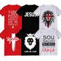 Kit 6 Camiseta Igreja Frase Camisa Jesus Moda Evangélica  Fé Original