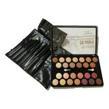 Set De Maquillaje Completo Tejar + Set De Brochas X 7 Piezas