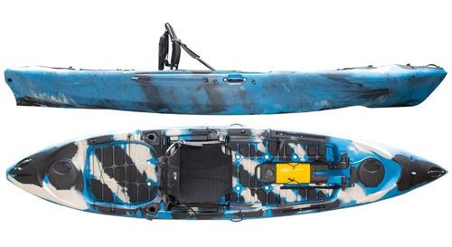 Kayak Hidro2eko Caiman 125 Camuflado Azul - Kayaks Feelfree