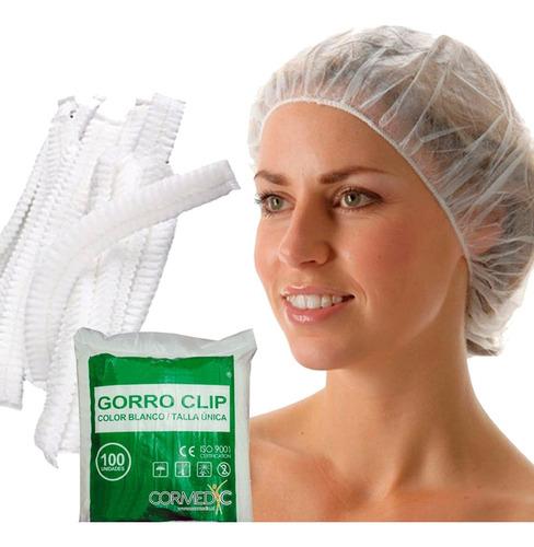 Gorro Clip Desechable  Bolsa 100 U / Cormedic