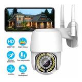 Cámara De Seguridad Wifi Exterior De Con Alarma 1080p 38led