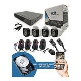 Cctv Kit De Seguridad 4 Camaras Hd 720p + Disco Duro 500gb