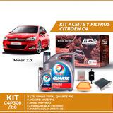 Cambio Kit De Filtros + 5l Aceite 10w40 Total - C4 2.0