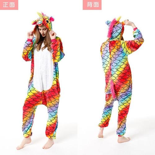 Pijama Entero Niños Y Adulto Unicornio Animales Invierno