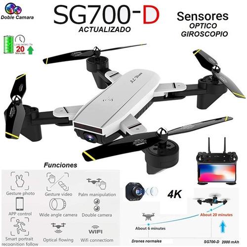 Drone Sg700d Camara 4k Optico Wifi Sígueme Plegable Ver 2020