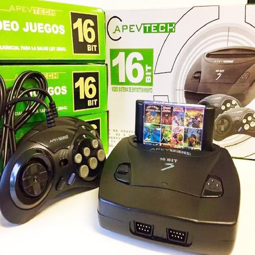 Sega Genesis Apevtech Retro 2 Joystick 16 Bits Juegos 3619am