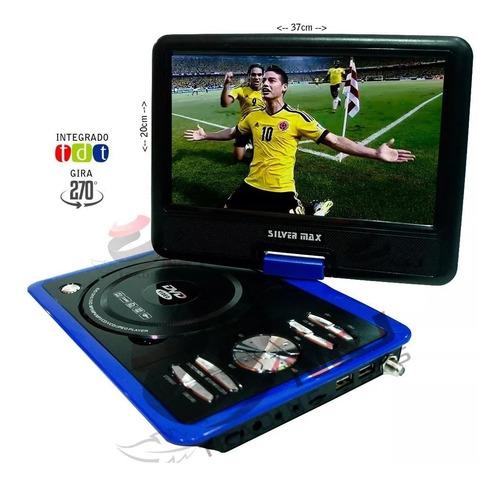 Tv Portatil De 7 Pulgadas Con Dvd Recargable Tdt Incorporado