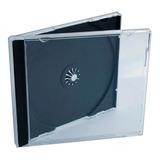 Cajas Acrilicas Para Dvd O Cd Tray Negro X 10 Unidades