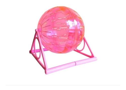 Esfera Acrilica Para Roedores 14cm + Soporte Maxscotas Pet