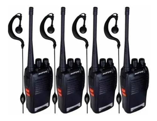 Kit 4 Radio Walk Talk Comunicador 16 Ch 12km Baofeng 777s