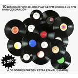 10 Discos De Vinilo Para Decoracion, Long Play O Singles
