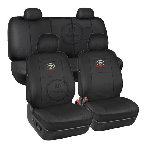 Funda Cubre Asiento Tapizado Eco Cuero Toyota Etios Completa