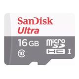 Cartão De Memória Sandisk Sdsquns-016g-gn3ma  Ultra Com Adaptador Sd 16gb