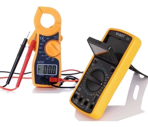 Combo Pinza Amperometrica Multimetro Termometro Capacimetro