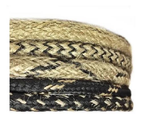 Cable Textil Arpillera Yute Lampara Vintage Retro X Metro