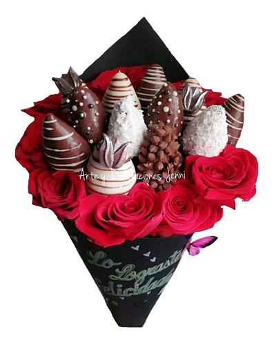 Ramos Frutales Y Florales, Arreglos De Fresas Con Chocolate