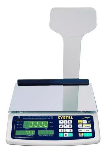 Balanza Systel Croma 31kg. C/bateria Puerto Impresor