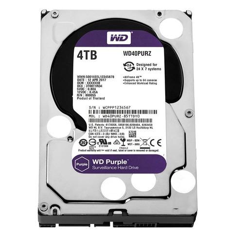 Disco Duro Western Digital Purple 4tb 64mb Sata 6 Wd40purx
