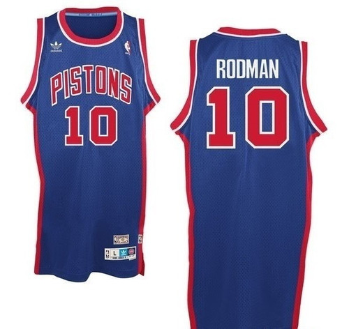 Camisetas Detroit Pistons Nba adidas Rodman