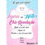 Convite Para Chá Revelação Chuva De Amor + Laços 40 Unidades Original