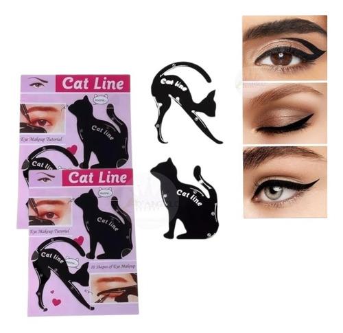 Plantilla Para Delineado De Ojos Gatos Maquillaje Pack 2