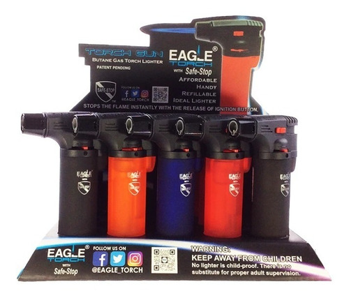 Encendedores Tipo Soplete, Eagle Torch, Recargable, De Gas