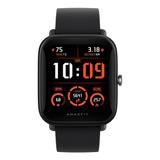 Smartwatch Amazfit Basic Bip U Pro 1.43  Caja De  Policarbonato  Black Malla  Black De  Caucho De Silicona A2008