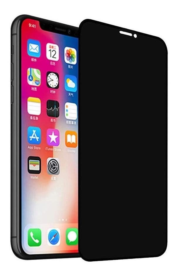 VIDRIO TEMPLADO 3D IPHONE 6 7 8 PLUS SPY NEGRO MATE