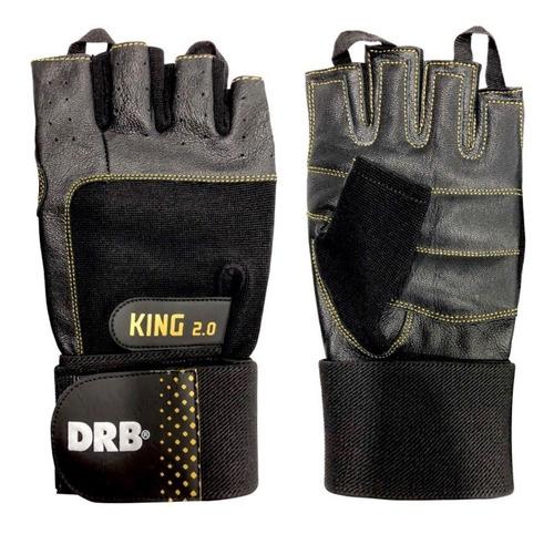 Guantes Fitness King 2.0 Drb® Cuero - Entrenamiento Y Pesas