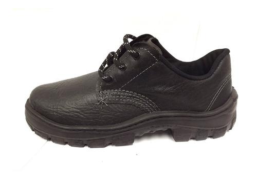 Zapato Cuero De Seguridad Y Trabajo Pé De Ferro