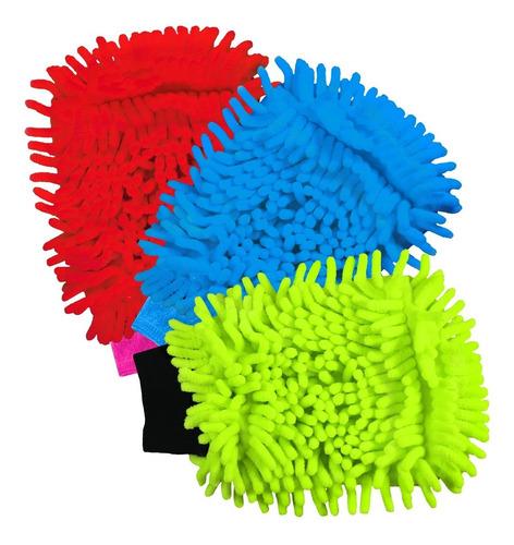 Guantes De Microfibra Multiusos Kit 3x2 Lavado Auto Limpieza