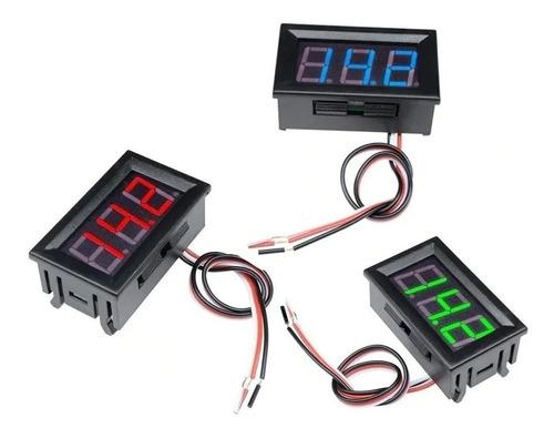Display Led Medidor De Tensão 4,5-30v Voltímetro Premium