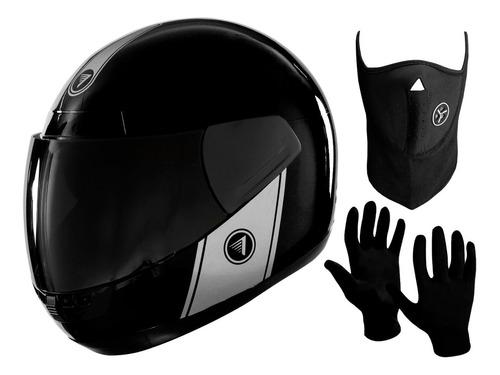 Casco Integral Moto Vertigo Cosmic + Mascara + Guantes - Sti