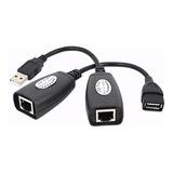 Extensor Usb A Plug Jack 40mts Cable Red Utp Rj45 Ethernet