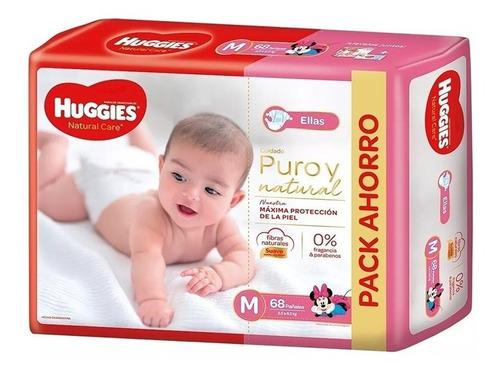 Huggies Natural Care Pack Mensual M Mediano 68 Pañales