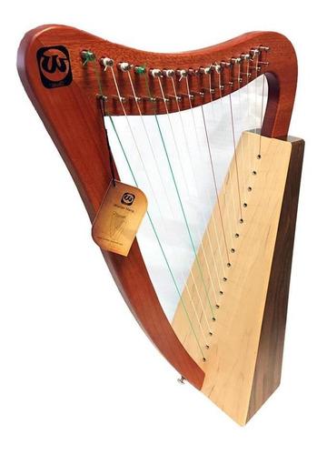 Walter H151wt Arpa De 15 Cuerdas Nylon Madera Nogal